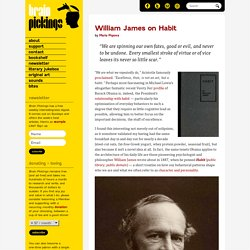 William James on Habit