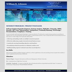 William B. Johnson online resume