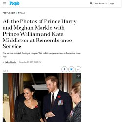 All the Photos of Prince Harry and Meghan Markle with Prince William and Kate Middleton at Remembrance Service