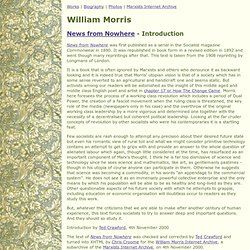 William Morris - News from Nowhere - Introduction