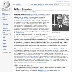 William Ross Ashby, cybernétique, homéostasie