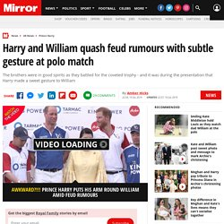 Harry and William quash feud rumours with subtle gesture at polo match