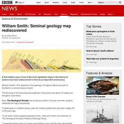 William Smith: Seminal geology map re-discovered