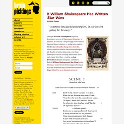 If William Shakespeare Had Written Star Wars
