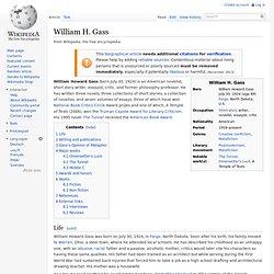 William H. Gass