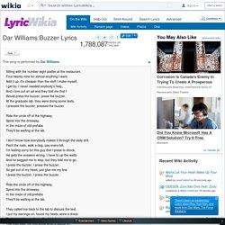LyricWikia: Dar Williams -Buzzer