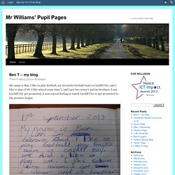 Mr Williams' Pupil Pages | A site to share learning