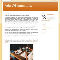 Find the best legal services in Los Angeles CA