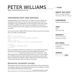 Peter Williams - Versioning REST Web Services