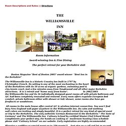 The Williamsville Inn: West Stockbridge, MA: Welcome