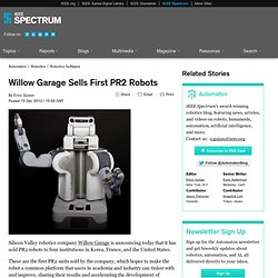 Willow Garage Sells First PR2 Robots