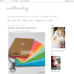 Printable: Clip-on Page-a-day Journals