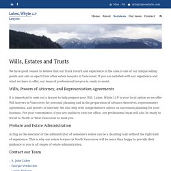 Estate Lawyer in Vancouver