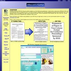 Willus.com's K2pdfopt