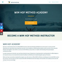 Wim Hof Method - Academy