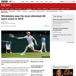 Wimbledon was the most attended UK sport event in 2016