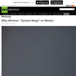 """Willy Wimmer: """"System-Neige"""" im Westen — RT Deutsch"""
