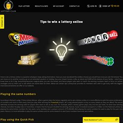 Tips to Win a Lottery Online