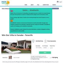 Win Our Villa in Fanabe - Tenerife