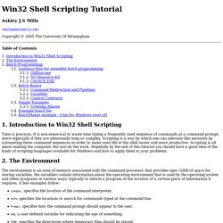 Win32 Shell Scripting Tutorial