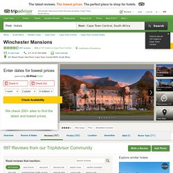 Winchester Mansions - UPDATED 2017 Hotel Reviews & Price Comparison (Cape Town, South Africa) - TripAdvisor