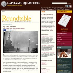 My First Mistake by Simon Winchester - Roundtable