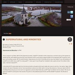 Supernatural and Minorities