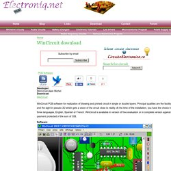 WinCircuit pcb software download | Electronics Projects Electronic Circuits Diagrams and Schematics