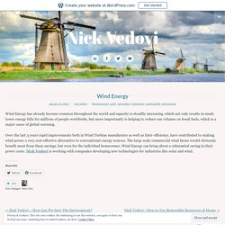 Wind Energy – Nick Vedovi