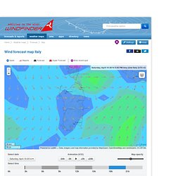 Carte de prévision du vent Italie