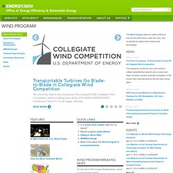 Wind Program: How Wind Turbines Work