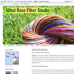 How To Dye Wool Roving
