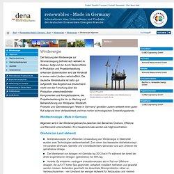 Windenergie Allgemein