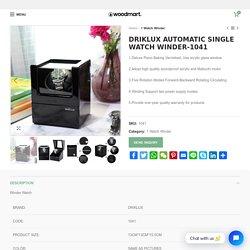 Winder Watch -DRIKLUX Luxury Watch Winder for Men's Automatic Watch