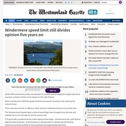 Windermere speed limit still divides opinion five years on