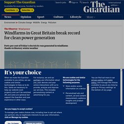 Windfarms in Great Britain break record for clean power generation
