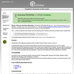 WinDirStat - Permalinks to downloads and other content