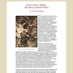 Snow, Glass, Apples: The Story of Snow White by Terri Windling: Summer 2007, Journal of Mythic Arts, Endicott Studio
