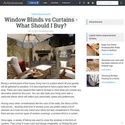Window Blinds vs Curtains - What Should I Buy?
