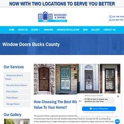 Window Doors Installation Bucks County