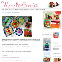 Tie Dye Window Decorations | Wendolonia