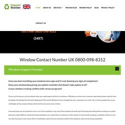 0800-098-8312 Window Technical Support