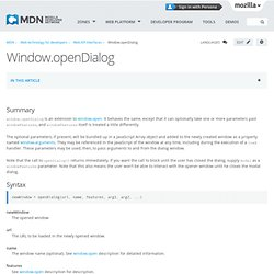 window.openDialog - MDC