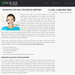 Window Live Mail technical support