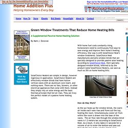 Green Window Treatments Reduce Home Heating Bills