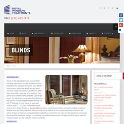 Window Blinds NYC – Wood, Vertical and Faux Wood
