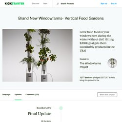 Brand New Windowfarms- Vertical Food Gardens by The Windowfarms Project