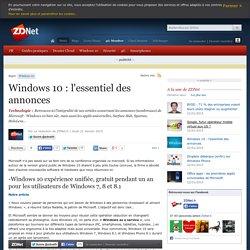 Windows 10 : l'essentiel des annonces