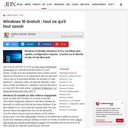 Windows 10(gratuit): tout ce qu'il fautsavoir