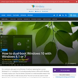 Windows 10 how to: dual-boot Windows 10 and 8.1 or 7